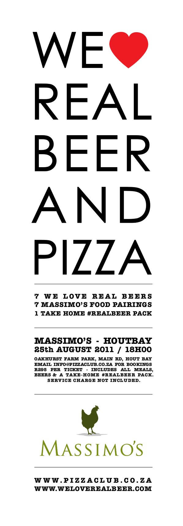 We Love real beer and pizza