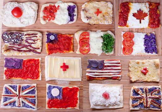 Pizza National Flags