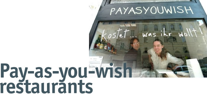 Pay as you wish restaurants